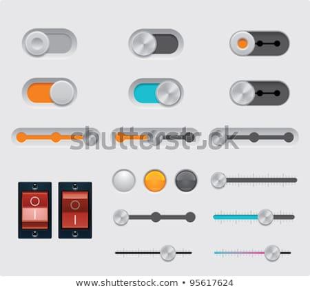 Foto d'archivio: Potere · pulsante · switch · icona · design · tecnologia