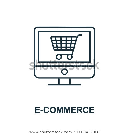 Online Commerce linear Symbole Vorlagen Set Stock foto © robuart