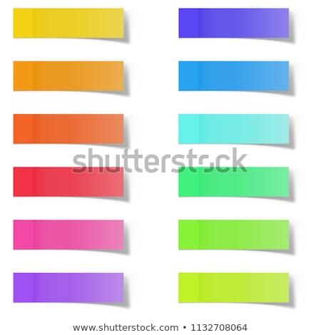 Papieru zauważa cień efekt kolor notatka Zdjęcia stock © olehsvetiukha