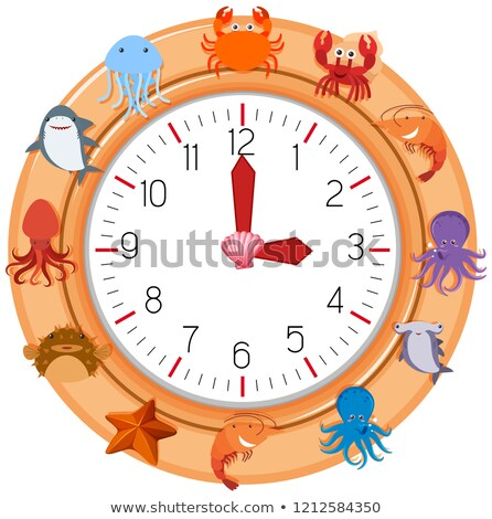 A clock with sea creature Stock photo © bluering