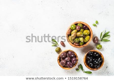 brut · casse-croûte · légumes · olives · dîner · plaque - photo stock © nenovbrothers