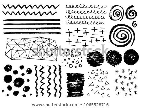 Line wykonany ręcznie wzorców cztery wektora projektowanie stron internetowych Zdjęcia stock © Anna_leni