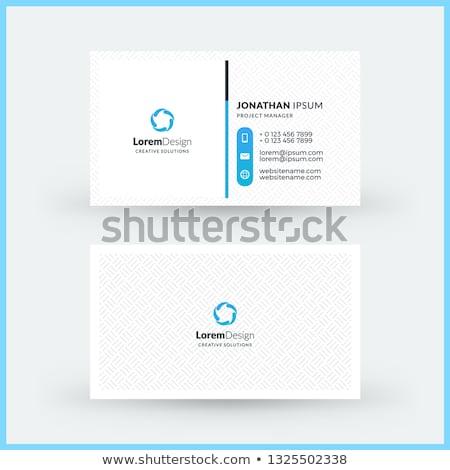 vector landscape business card template background Stock photo © blaskorizov