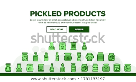 Preserved Food Banners with Tomatoes and Peaches Stock photo © robuart