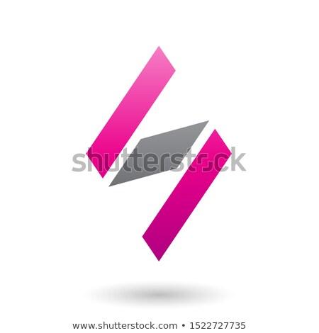手紙 マゼンタ 黒 ロゴタイプ にログイン ストックフォト © blaskorizov