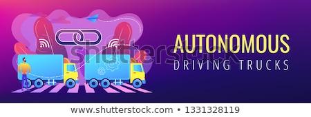 rijden · zakenman · auto · smart · technologie · iconen - stockfoto © rastudio