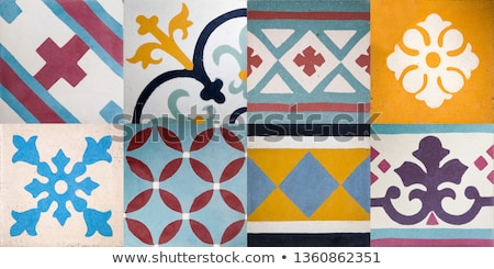 set of traditional balinese ceramic tiles stock photo © boggy