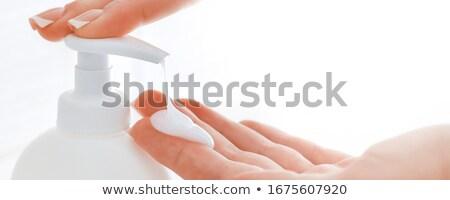 Biały butelki prysznic żel mleczko kosmetyczne krem Zdjęcia stock © manaemedia