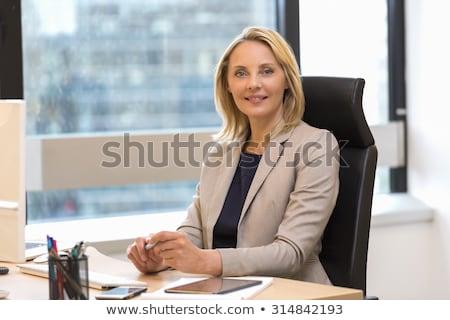 Güzel iş kadını portre genç beyaz Stok fotoğraf © filipw