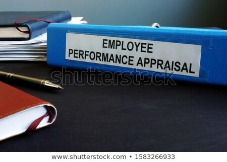 értékbecslés irat mappa asztal üzletemberek dolgozik Stock fotó © AndreyPopov