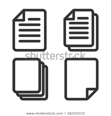 collection blank file document icon set vector stock photo © pikepicture