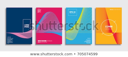 Yarım ton spiral afişler ayarlamak dizayn arka plan Stok fotoğraf © SArts