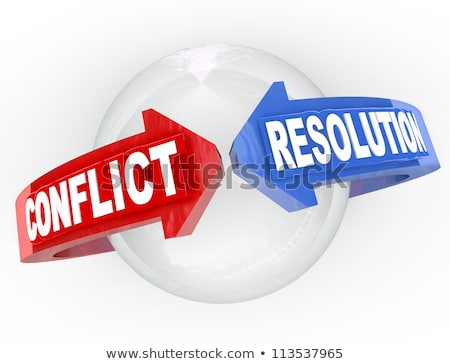 Conflict Resolution, Compromise Between Two Parties Stock photo © olivier_le_moal