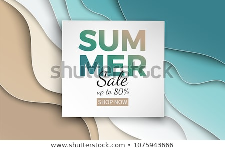 Sale Summer Discount Summertime Vector Web Poster Stock photo © robuart