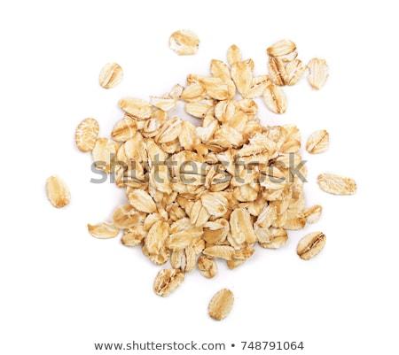 Zab pelyhek diók mazsola fából készült tál Stock fotó © tycoon