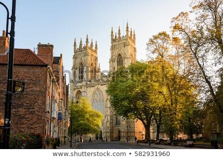 大聖堂 イングランド 曇った 青空 市 通り ストックフォト © vichie81