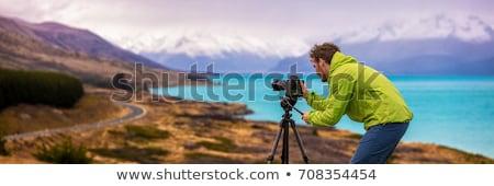 Fotografia · strzelanie · odkryty · fotograf · ręce - zdjęcia stock © robuart