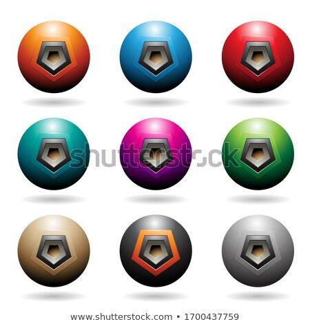 Coloré sphère haut-parleur icônes vecteur illustration Photo stock © cidepix