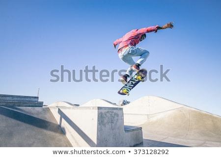 Extreme teen sport skateboarding skate park Stockfoto © robuart