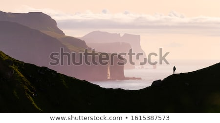 Stock photo: Kallur Lighthouse on Kalsoy island, Faroe islands