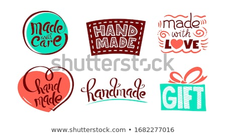 Handmade stroke vector love icons isolated on white background filling with pastel color. Love is in Stock photo © ukasz_hampel
