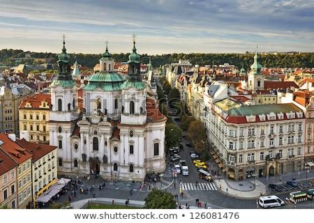 kasaba · gece · Prag · Çek · Cumhuriyeti · yol · sokak - stok fotoğraf © borisb17