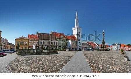 Rue République tchèque tour porte maison bâtiment Photo stock © borisb17