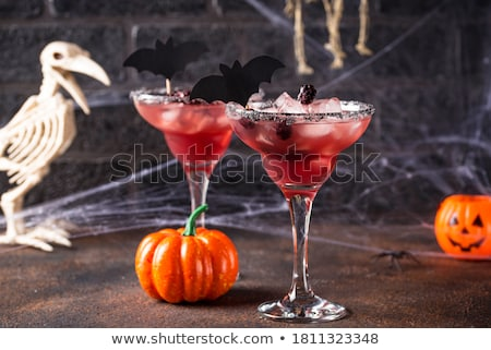 Halloweens spooky drink with blackberry Stock photo © furmanphoto