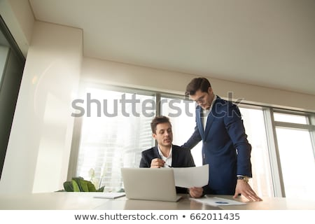 Boss in Office, Businessman Supervisor with Worker Stock photo © robuart