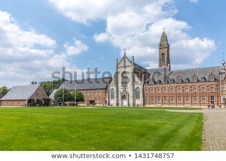 Abadia Bélgica igreja senhora estilo céu Foto stock © borisb17