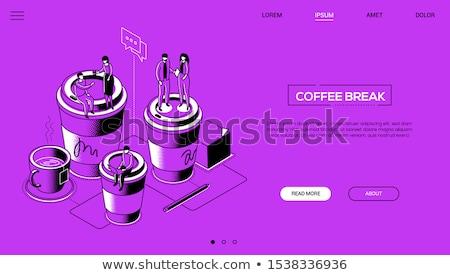 事務員 · コーヒーブレイク · カフェイン - ストックフォト © decorwithme