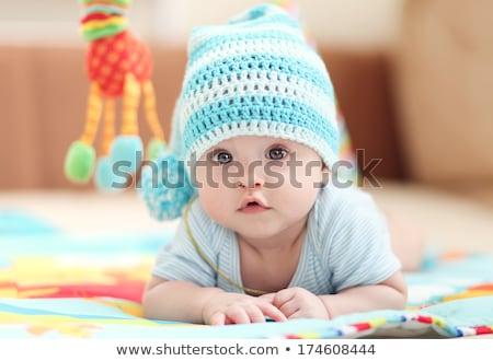 baby · jongen · pluche · hond · witte · glimlach - stockfoto © anna_om
