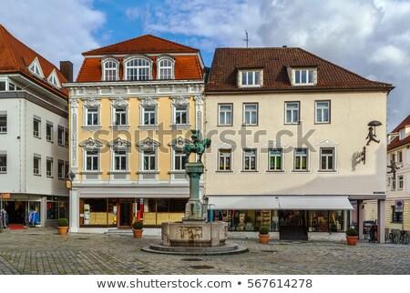 фонтан Германия почтальон здании лошади Сток-фото © borisb17
