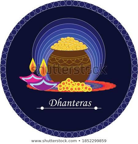 lovely hindu festival of happy dhanteras design Stock photo © SArts