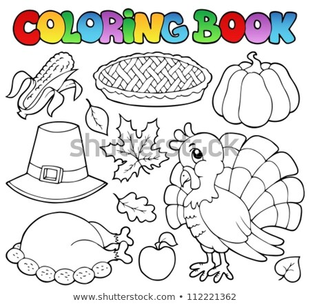 Coloring book turkey bird theme 1 Stock photo © clairev