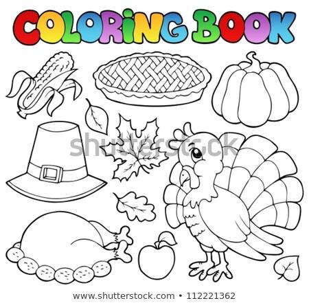 kleurboek · dankzegging · glimlach · boek · vrouwen · gelukkig - stockfoto © clairev