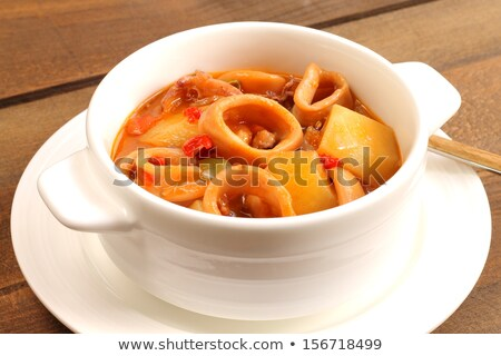 potato and squid stew Stock photo © trexec