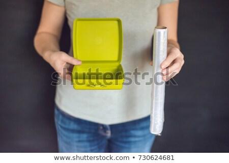 Zero waste concept. Use a reusable lunchbox or food film. Zero waste, green and conscious lifestyle  Stock photo © galitskaya