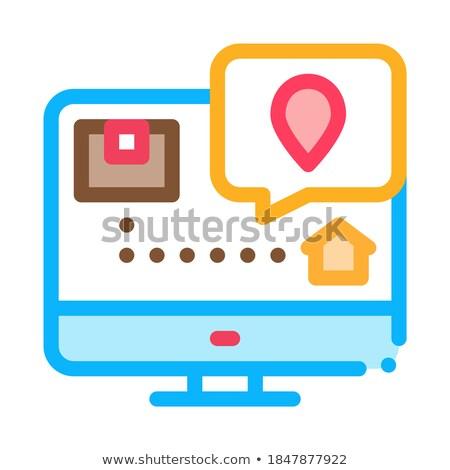 parcel destination postal transportation company icon vector illustration stock photo © pikepicture
