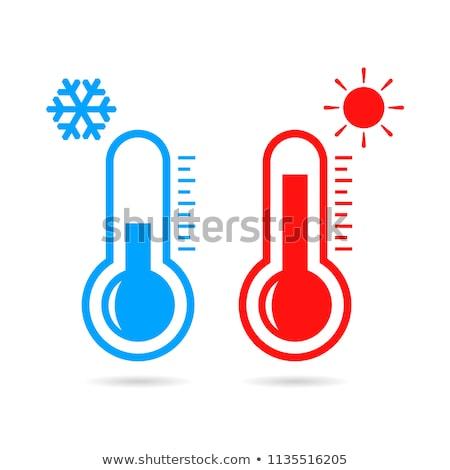 Thermometer heet water illustratie water achtergrond kunst Stockfoto © bluering