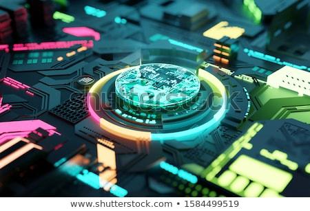 Multicolore futuristico cpu processore macchina apprendimento Foto d'archivio © solarseven