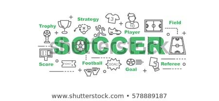 Piłka nożna minimalny banner wektora Zdjęcia stock © pikepicture