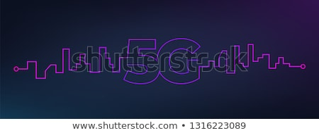5G fifth generation technology digital background design Stock photo © SArts
