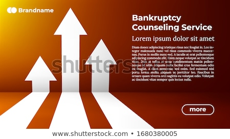 Bankruptcy Counseling Service - Web Template In Trendy Colors Foto stock © Tashatuvango