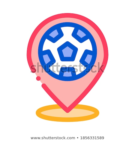 destination football icon vector outline illustration Stock photo © pikepicture
