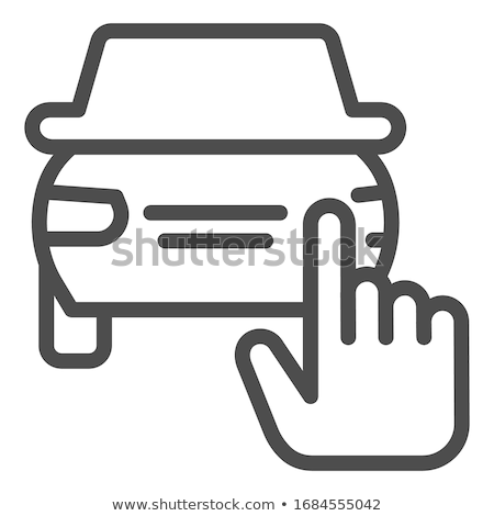 road selection icon vector outline illustration Stock photo © pikepicture