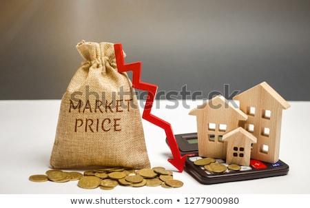 Domu ceny sprzedaży spadać koronawirus recesja Zdjęcia stock © AndreyPopov