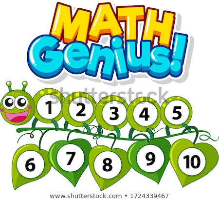 Doopvont ontwerp math genie nummers een Stockfoto © bluering