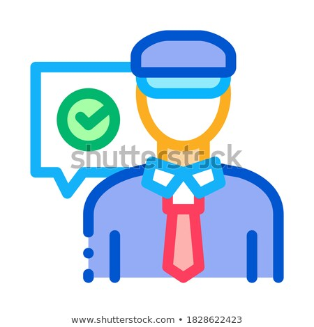 Policeman Access Icon Vector Outline Illustration Stock photo © pikepicture