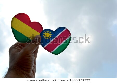 Bayrak Namibya biçim kalp sevmek Stok fotoğraf © butenkow